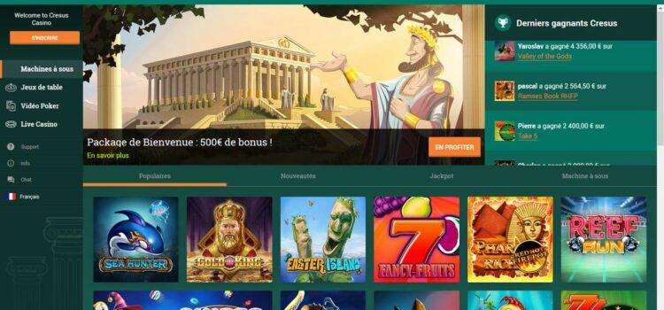 Avis sur Cresus casino : des prestations hauts de gamme